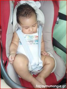 Μωρό στο πίσω κάθισμα..