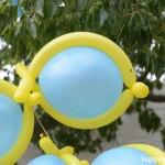 χειροποίητα μπαλόνια-ψαράκια για την εκκλησία που ο παπάς δεν άφησε να βάλουμε