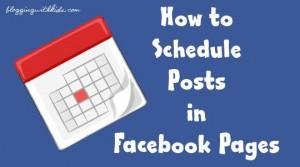 Προγραμματισμένες αναρτήσεις στο facebook μέσω facebook!