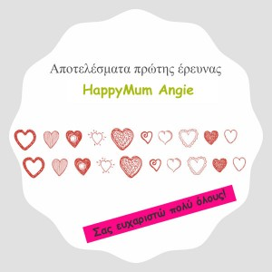 Πρώτη έρευνα happymum angie!